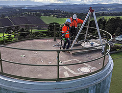 Yarra Valley Water team repair Gembrook tank